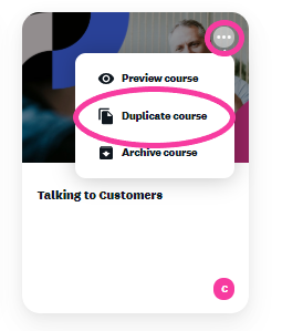 Online training platform language settings