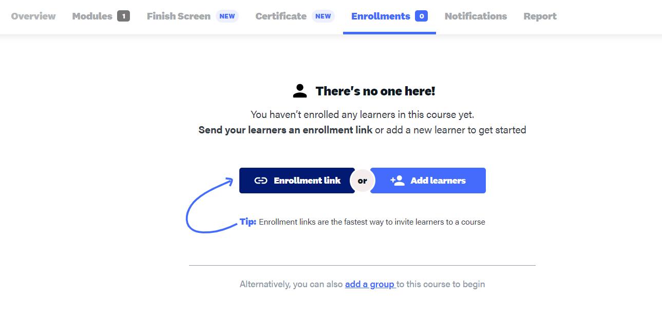 Online training self-enrollment