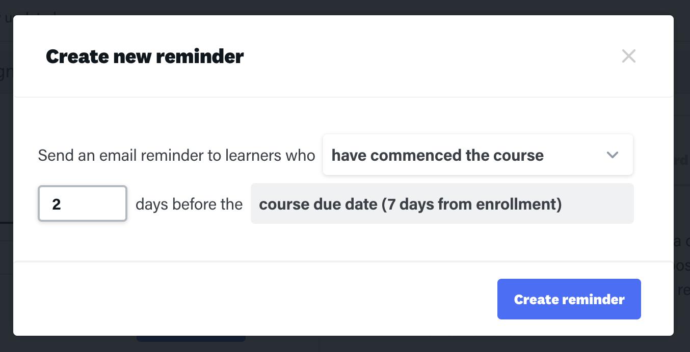 online training platform settings