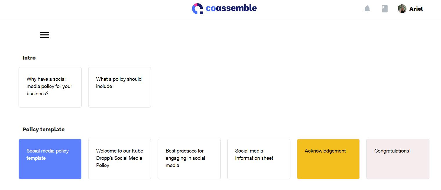 lesson view in online training platform